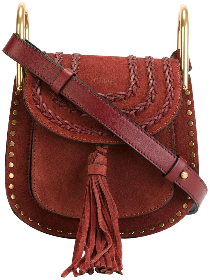 2235b69c Chloé Mini Hudson New Wine Red Suede Cross Body Bag 37% off retail