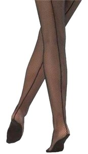 Capezio 2 Pairs Of M/T Professional Fishnet Tight With Seams (2 Pairs) Size M/T