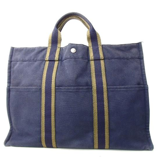 Preload https://img-static.tradesy.com/item/22617747/hermes-unisex-fool-toe-tote-blue-canvas-shoulder-bag-0-0-540-540.jpg