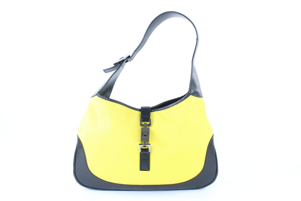a7e1a2619df1 Gucci Jackie Jackie-o 2017 Neon Tom Ford Satchel in Yellow x Black Image 0  ...
