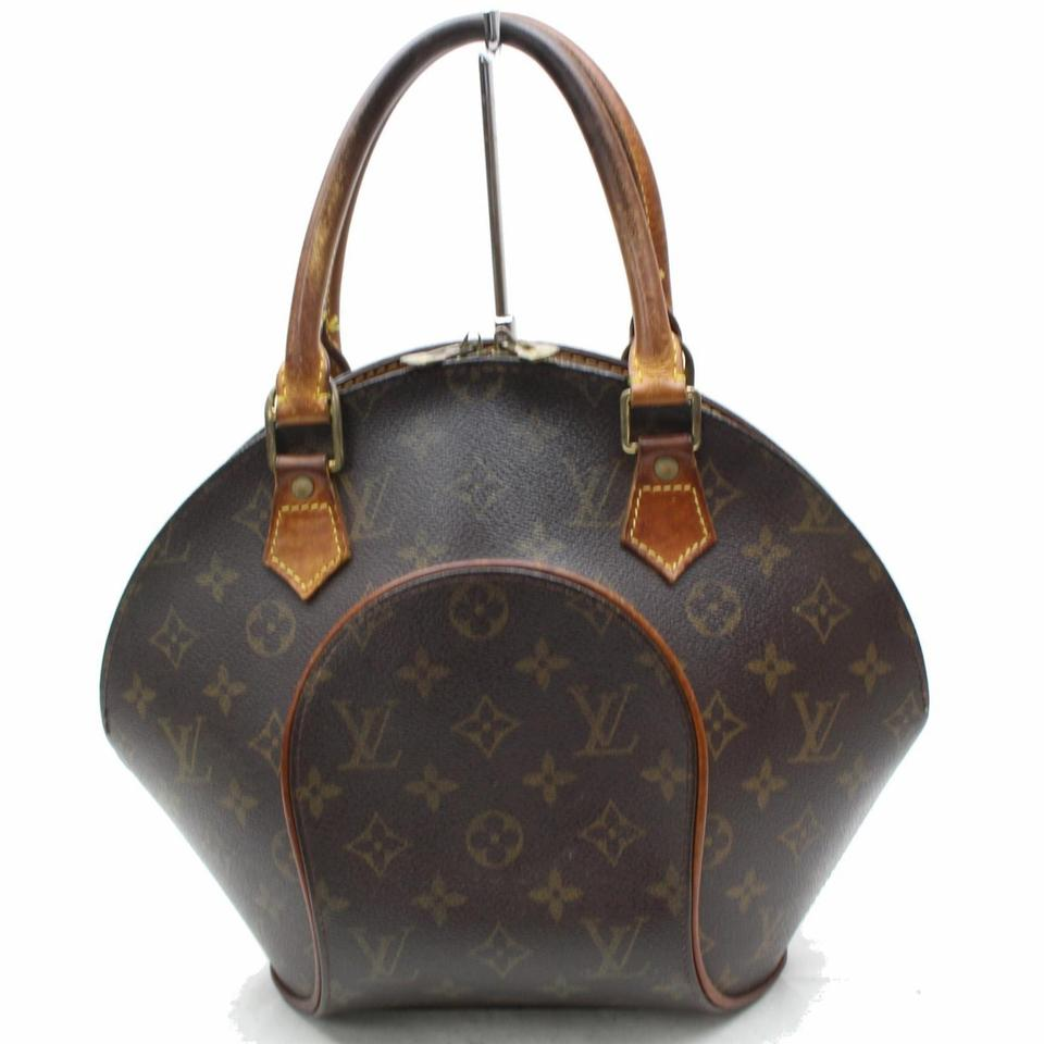 Louis Vuitton Ellipse Seas Octagon Stop Sign Bowler Satchel In Brown