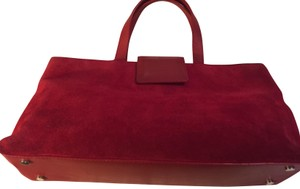 Burberry Suede Tote Baguette Made In Italy Shoulder Bag