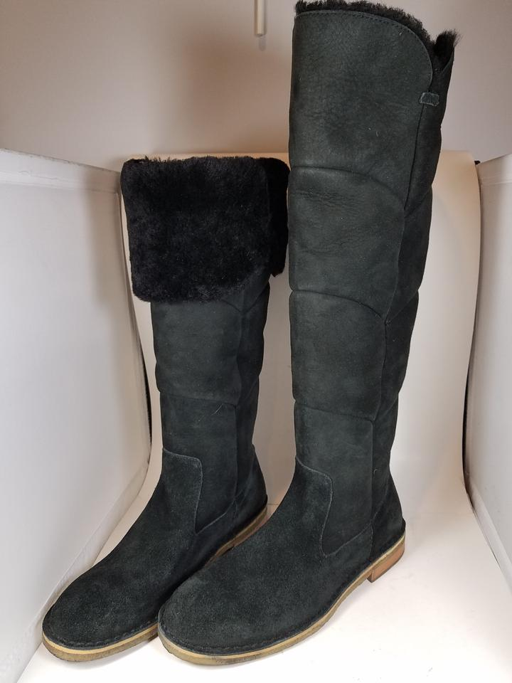 b07730b45b5 UGG Australia Black Samantha Fully Lined Sheepskin Tall Boots/Booties Size  US 9.5 Regular (M, B)