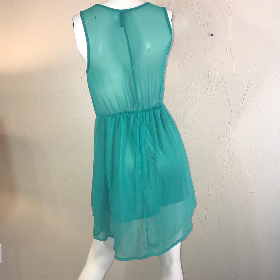 H&M Green Party Short Casual Dress Size 6 (S) - Tradesy