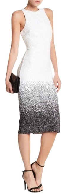 Dress The Population Black And White 234567 Mid Length