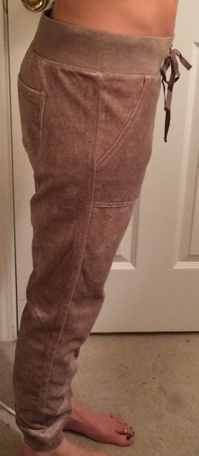 New York & Company Velour Track Athletic Pants Tan