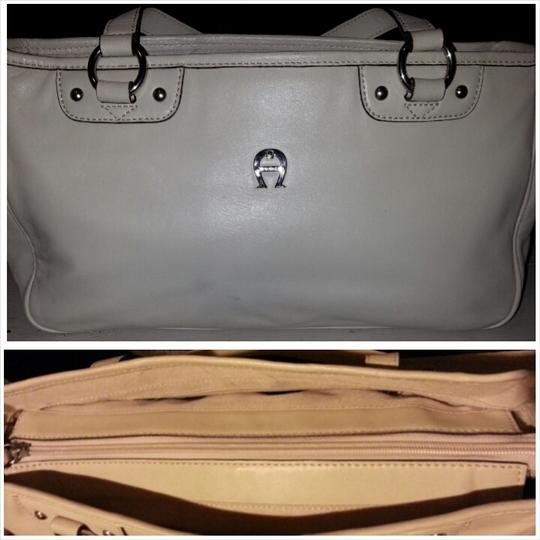 Etienne Aigner Leather Tote in Winter White