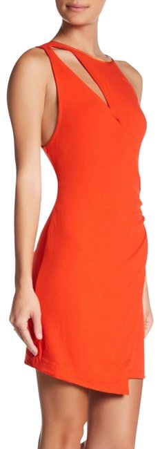 Item - Orange Toast To That Fitted Minidress Short Night Out Dress Size 12 (L)