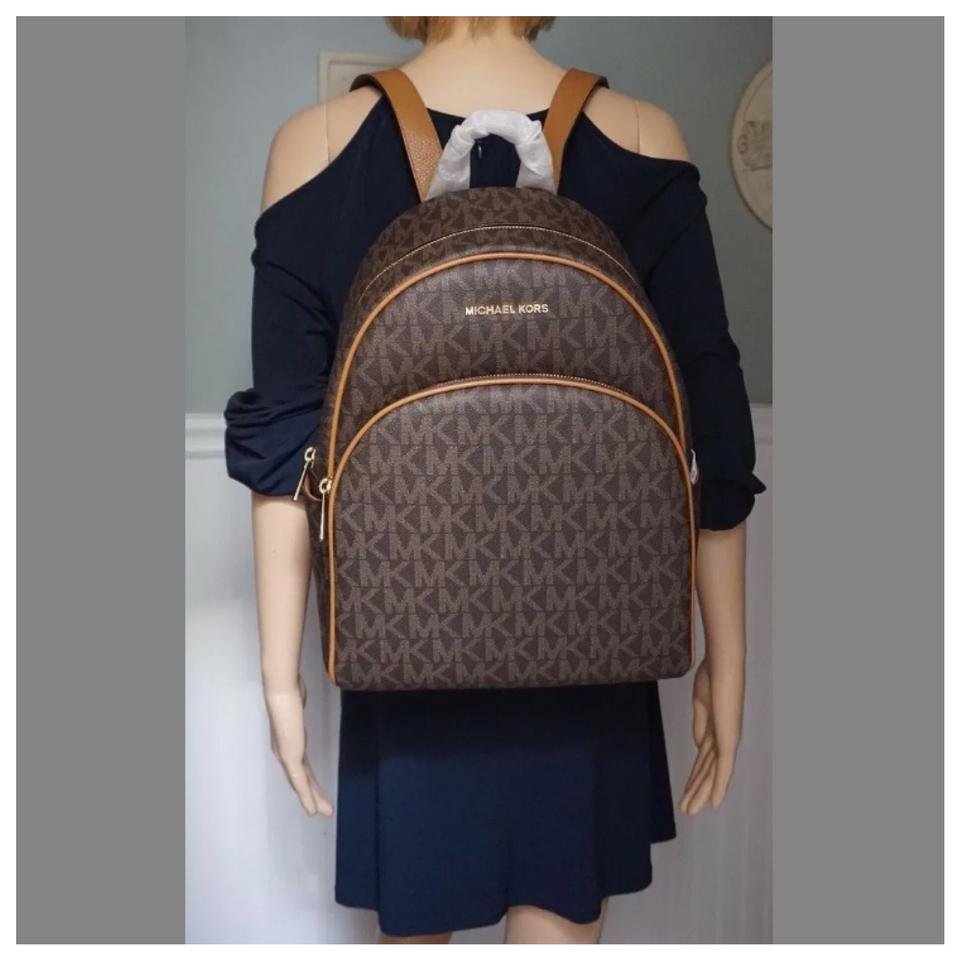 82517679f2b7 Michael Kors Mk Abbey Large Brown/Acorn Backpack - Tradesy