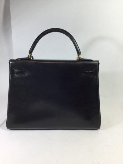 Hermès Box Leather Kelly Retourne 28 Satchel in Black