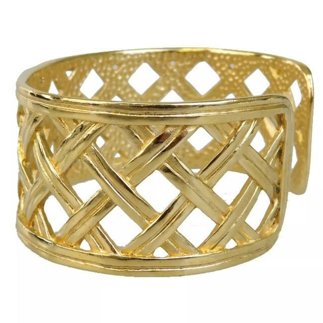 Item - Gold P96 Lattice Cuff Bracelet
