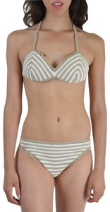 Malo Malo Women's Multi-Color Striped Knitted Bikini Swimsuit