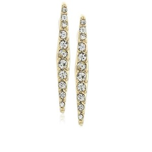 Rebecca Minkoff Linear Gold & Pave Crystal Earrings
