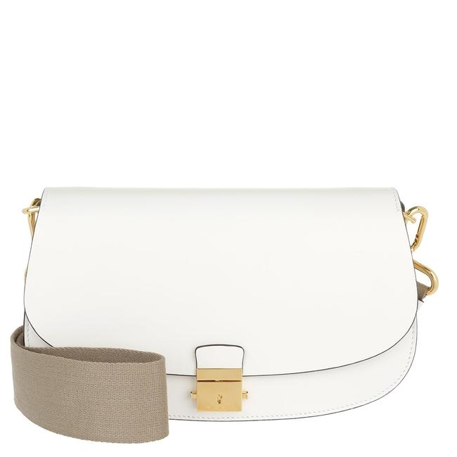 Item - Mia White Calfskin Leather Cross Body Bag