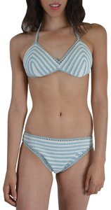 Malo Malo Women's Women's Multi-Color Striped Knitted Bikini Swimsuit US M
