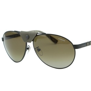 Chopard Chopard SCH-B33 Men Metal Rubber Details Polarized Aviator Sunglasses