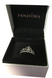 PANDORA Authenic Pandora Crown Ring Sterling silver 925 Size 5.5