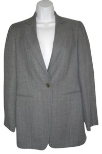 Sisley Breasted Career Wool Medium One Button Gray Jacket