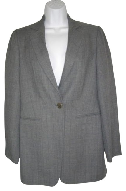 Sisley Single Breasted Career Wool Medium One Button Gray Jacket