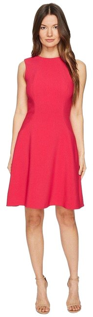 Kate Spade Pink New York Stretch Crepe Flip Tagine Mid-length Cocktail Dress Size 4 (S) Kate Spade Pink New York Stretch Crepe Flip Tagine Mid-length Cocktail Dress Size 4 (S) Image 1