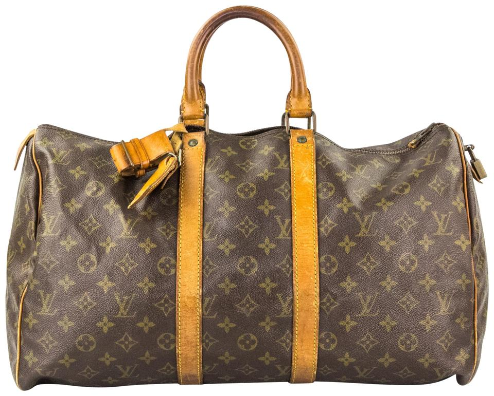 c999ccd5b9ed Louis Vuitton Duffle Gym Keepall Suitcase Carry On Monogram Travel Bag  Image 0 ...