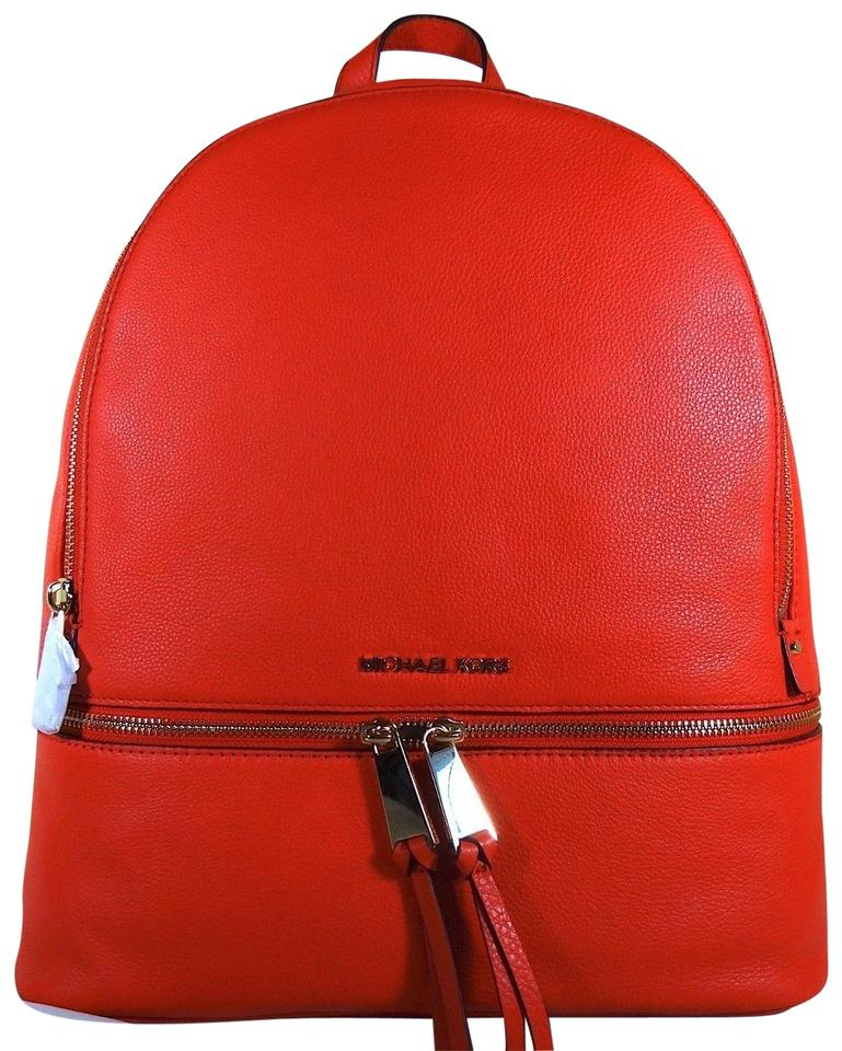 1a77e01781fc MICHAEL Michael Kors Rhea Large Sangria Leather Backpack - Tradesy