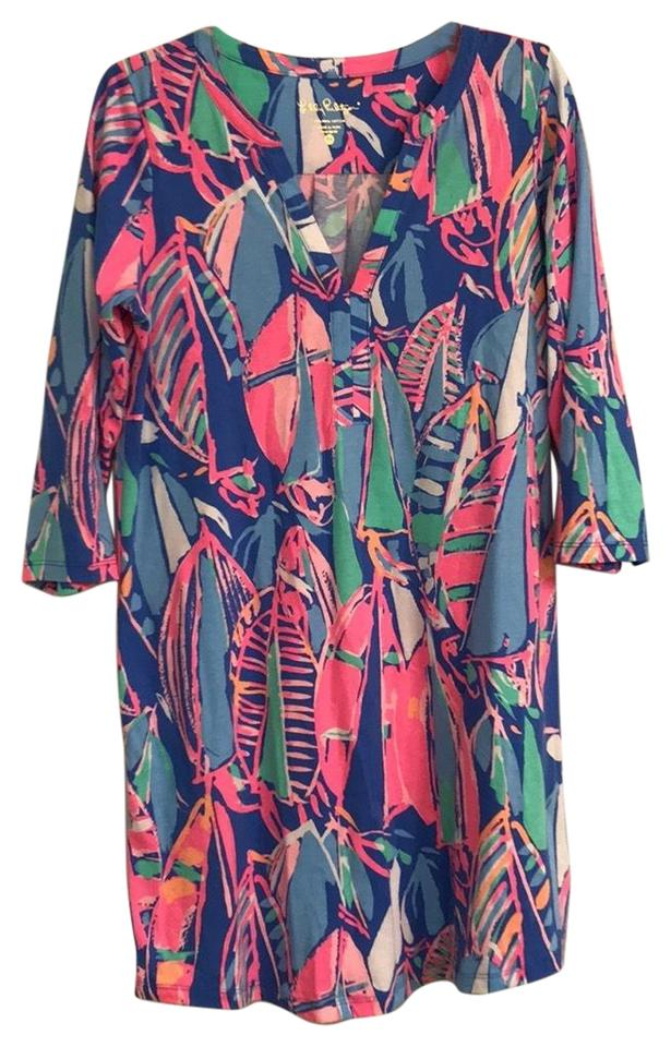 55f5f29b1767de Lilly Pulitzer Bay Blue 'out To Sea' 'ali' Short Casual Dress Size 8 ...