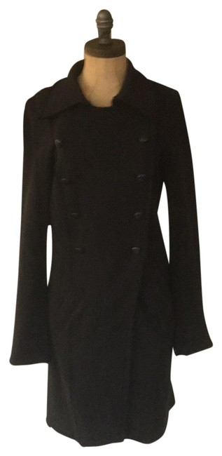 Item - Black Knit Embroidered Coat Size 6 (S)