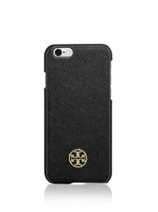 Tory Burch Tory Burch Robinson Hardshell Saffiano Leather Black iPhone 6 Case