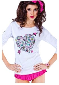 Betsey Johnson Cancer Longsleeve T Shirt white