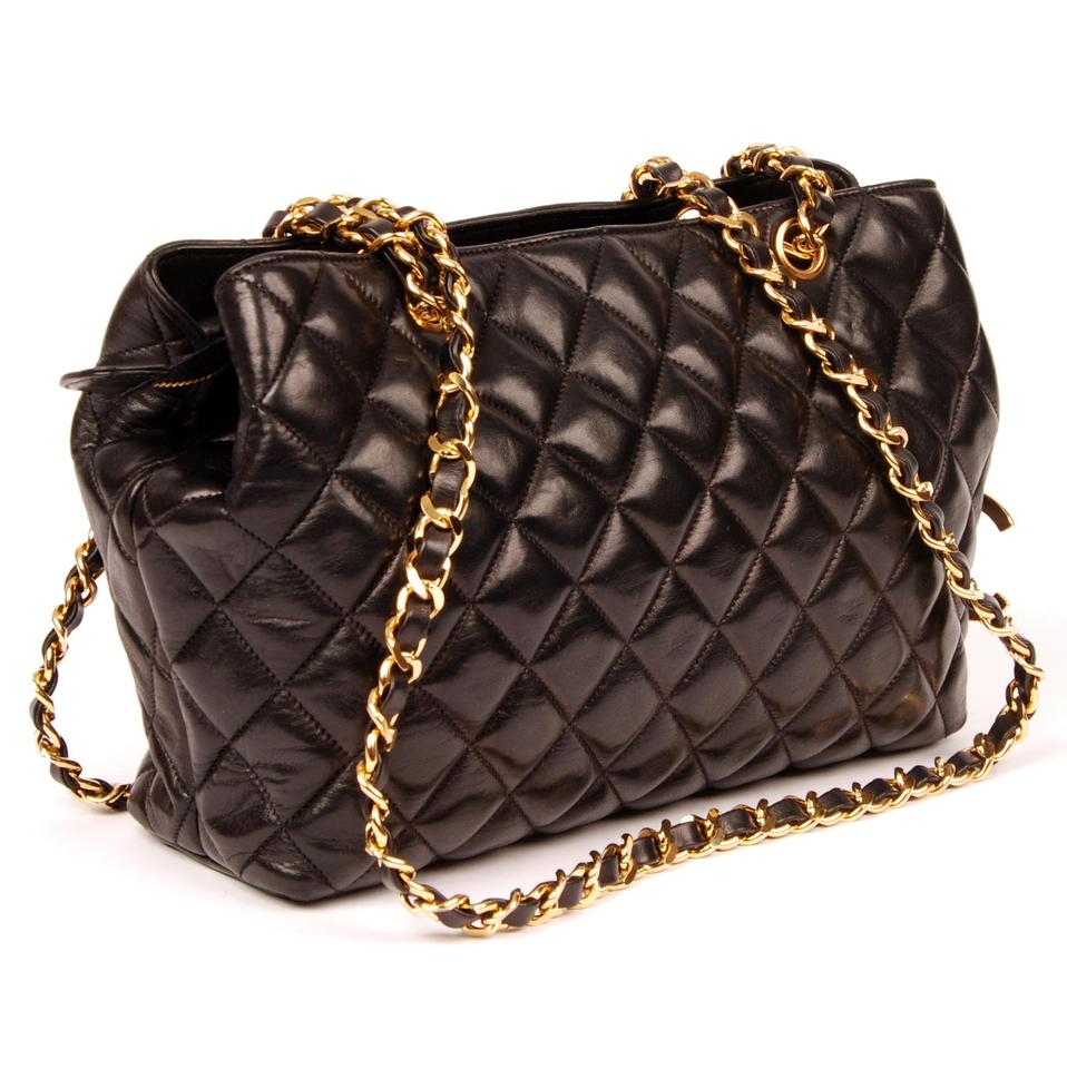 c435d3c89297 Chanel Timeless Tote Quilted Matelasse Cc Logo Black 5459 Lambskin Leather Shoulder  Bag - Tradesy