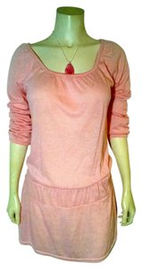 Other short dress pink Sweater Size Medium Stretchy Knee Length Long Sleeves P1334 on Tradesy