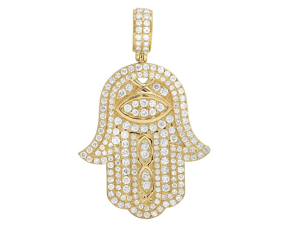 Jewelry unlimited 10k yellow gold mens hamsa hand iced 40ct jewelry unlimited mens 14k yellow gold hamsa hand iced 40ct diamond pendant charm aloadofball Image collections