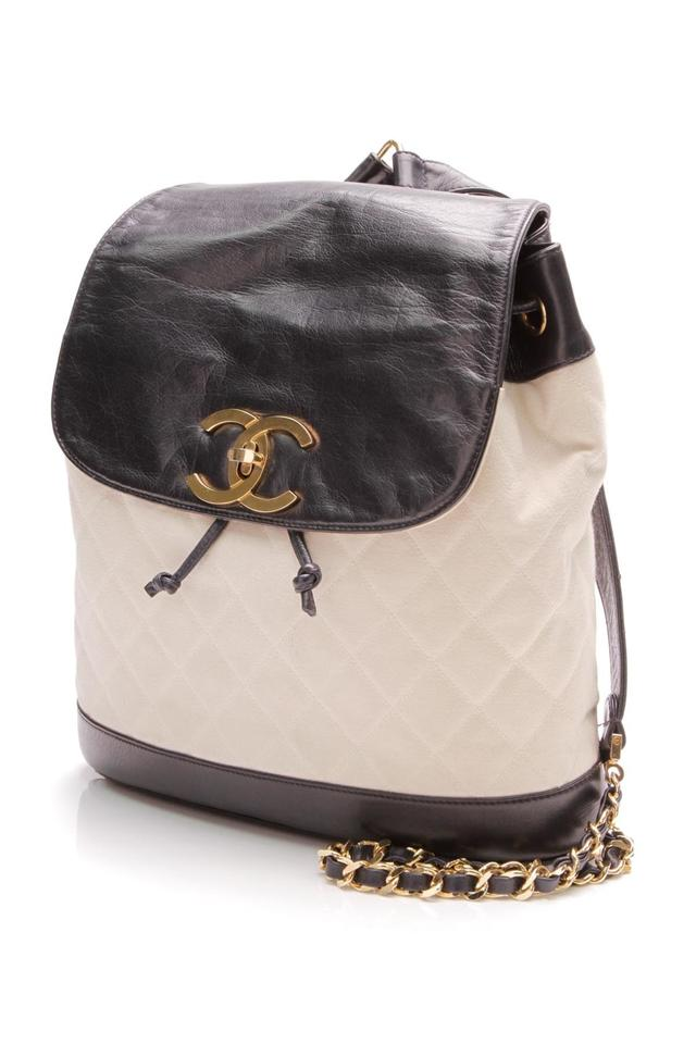16ce6f557401 Chanel Backpack Vintage Quilted - Ivory/Navy Ivory/Navy Blue Canvas ...