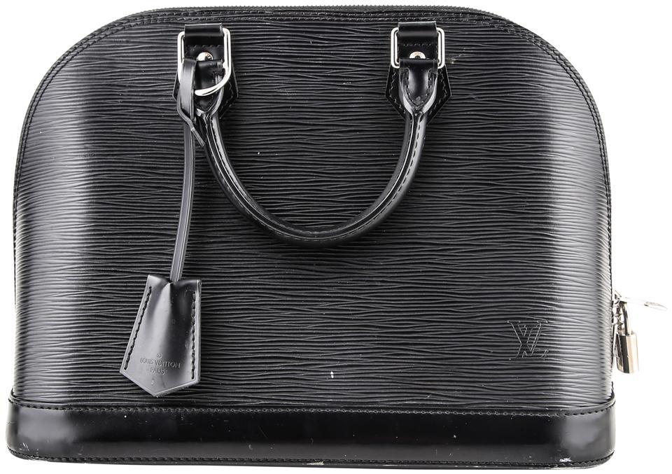 9dacb32c6 Louis Vuitton Alma Pm Epi Noir Black Leather Tote - Tradesy