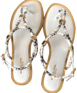 Michael Kors Collection white, gold, Sandals
