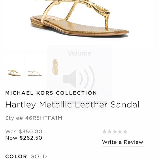 Michael kors collection white gold hartley sandals size eu for Michael m collection