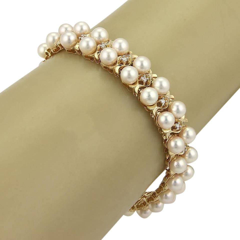 bracelet cultured jewelry yellow gold freshwater pearls effy