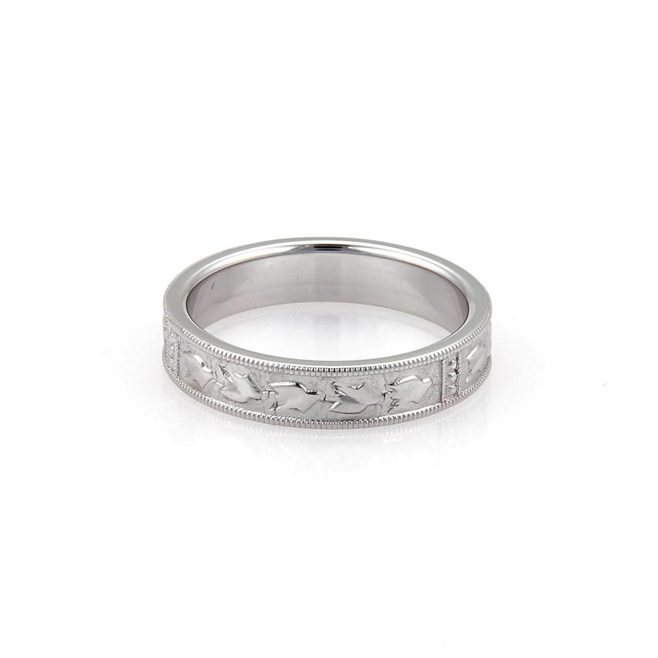 band ring bands product dainty milgrain ravens wedding refuge platinum