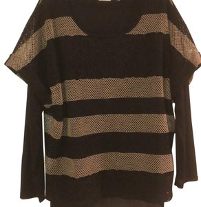 Chico's T Shirt Black and Tan.