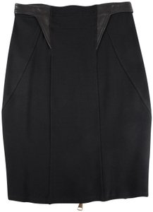 Givenchy Bodycon Lamb Leather Skirt Black