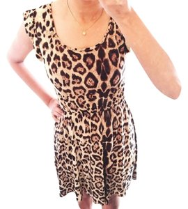 short dress Leopard Print on Tradesy