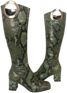 Gucci black and green Boots