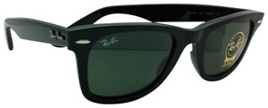Ray-Ban New Ray-Ban Sunglasses RB 2140 901 50-22 WAYFARER Black Frame w/ Green