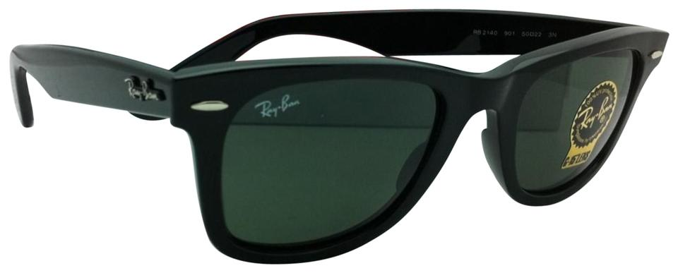 4ea22261c3 Ray-Ban Rb 2140 901 50-22 Wayfarer Black Frame W  Green Lenses New W ...