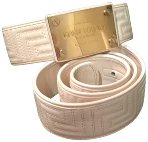 Versace Leather and Gold Buckle Signature Belt