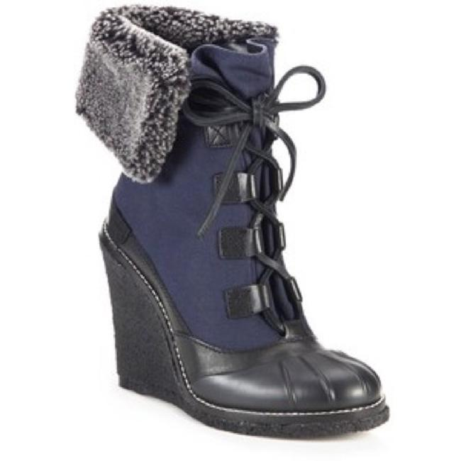 Item - Navy/Charcoal Black Fairfax Fur-lined Wedge Black/Washed Boots/Booties Size US 7 Regular (M, B)