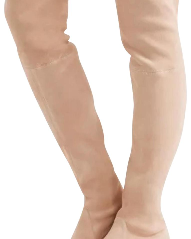 9790e4e96cc Stuart Weitzman Buff Suede Lowland Over The Knee Boots Booties Size ...