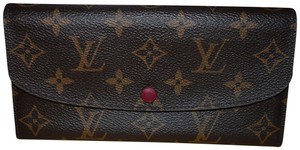 Louis Vuitton Monogram Emilie Wallet with Fuchsia Interior