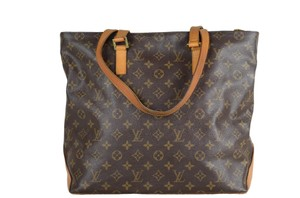 Louis Vuitton Monogram Cabas Mezzo Tote in Brown